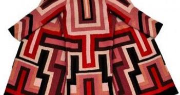 Sonia Delaunay Manteau pour Gloria Swanson c. 1924 Broderie de laine Collection particulière