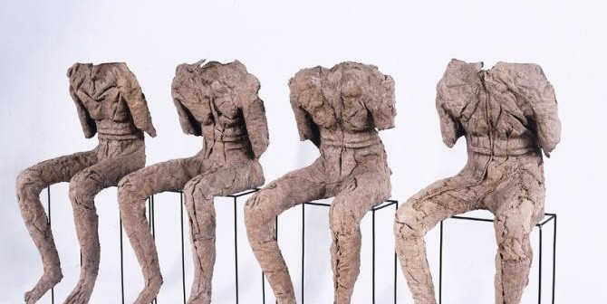 Magdalena Abakanowicz, 4 Seated Figures, 2002; Gift of the Artist -By courtesy of NMWA