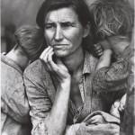 Dorothea Lange (1895-1965) Human Erosion in California (Migrant mother) Tirage argentique, 50 x 40 cm Munchner Stadtmuseum, Munich Allemagne © Münchner Stadtmuseum, Sammlung Fotografie © Dorothea Lange Collection, Oakland Museum, Oakland, USA