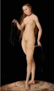 Lucas Cranach (1472-1553) Vénus 1531 - Huile sur bois - 38,7 x 24,5 cm Liechtenstein. The Princely Collections, Vaduz–Vienna © LIECHTENSTEIN. The Princely Collections, Vaduz–Vienn