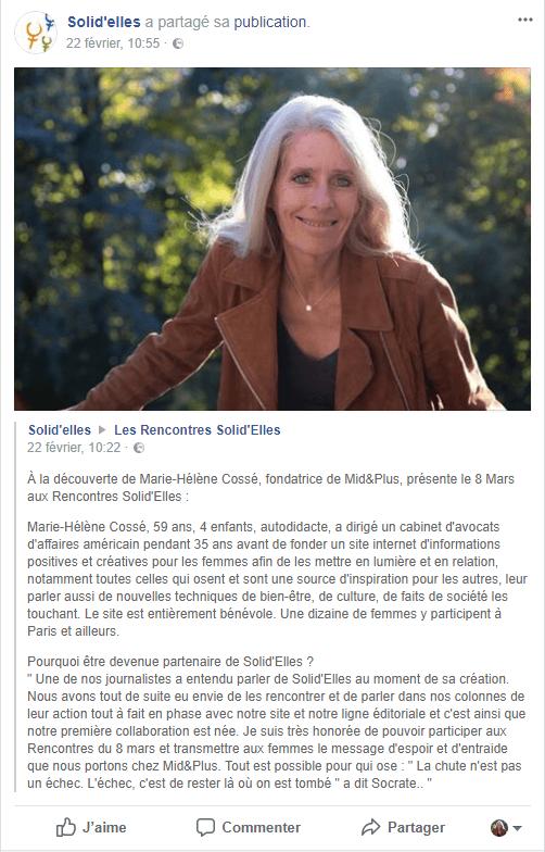 ©Marie-Hélène Cossé - Rencontres Solid'Elles