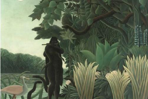 Henri Rousseau, La charmeuse de serpents, Huile sur toile, 1907 Paris, musée d'Orsay, legs de Jacques Doucet, 1936 © RMN-Grand Palais (musée d'Orsay) / Hervé Lewandowski
