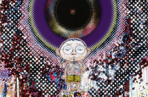 Takashi Murakami Ensō: At Our Side 2015 Acrylic, gold leaf and platinum leaf on canvas mounted on aluminum frame 170 x 144.7cm © 2015 Takashi Murakami/Kaikai Kiki Co., Ltd. All Rights Reserved.