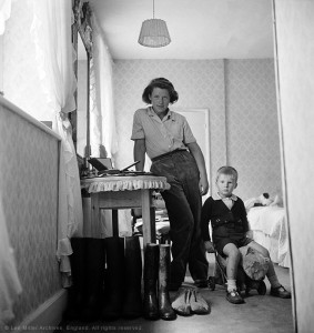Lady Mary Dunn and young evacuee, Buckinghamshire, England 1941 by Lee Miller © Lee Miller Archives, England 2015. All rights reserved.