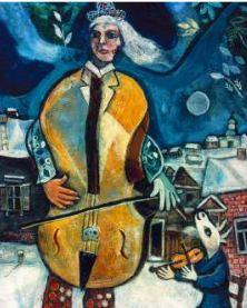 Chagall Marc LE VIOLONCELLISTE , 1939, détail Collection particulière © ADAGP, Paris, 2016 - Cliché : Banque d'Images de l'ADAGP