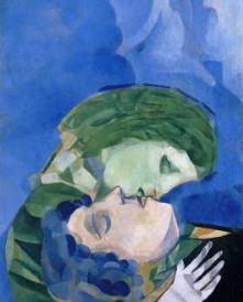 Chagall Marc LES AMOUREUX, 1916, détail Collection particulière © ADAGP, Paris, 2016 - Cliché : Banque d'Images de l'ADAGP