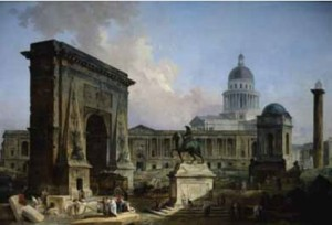 Hubert Robert, Les Monuments de Paris. 1788. Huile sur toile. H. 117; l. 175 cm. Montréal, Power Corporation of Canada Art Collection © Power Corporation of Canada Art Collection
