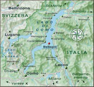 Cartina Lago di Como
