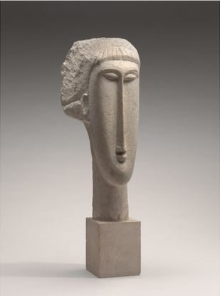 Amedéo Modigliani-Tête de femme-Courtesy National Gallery of Art, Washington artist © : public domain