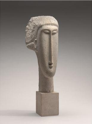 Amedéo Modigliani-Tête de femme-Courtesy National Gallery of Art, Washington artist © : public domain