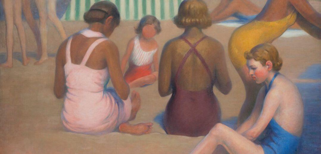 Ernest_Rouart_Baigneurs sur la plage_1935