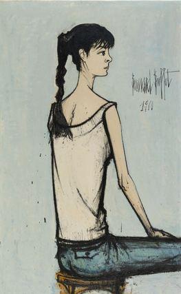 Annabel à la natte, Bernard Buffet, 1960 huile sur toile130 x 81 cm Musée d'Art moderne de la Ville de Paris © Julien Vidal / Musée d'Art moderne / Roger-Viollet © ADAGP, Paris 2016
