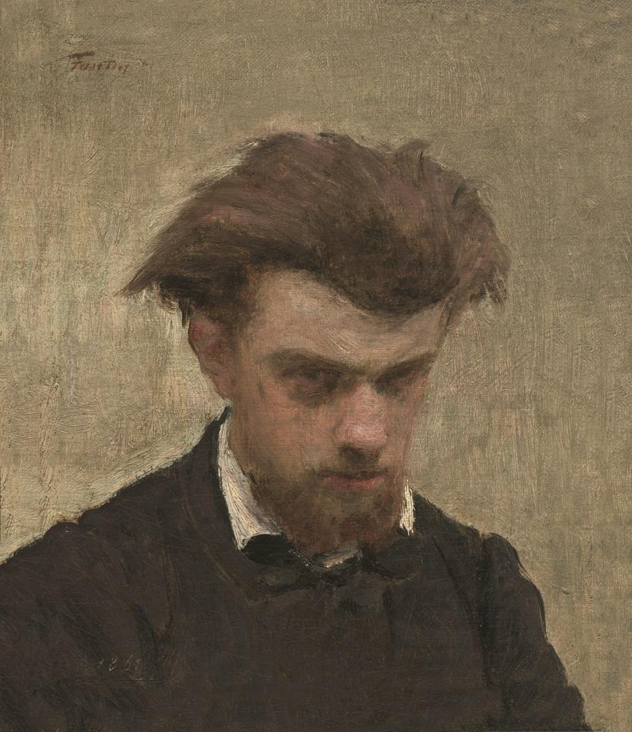 Henri Fantin-Latour Autoportrait, la tête légèrement baissée 1861 huile sur toile ; 25,1 x 21,4 cm Washington, National Gallery of Art Courtesy National Gallery of Art, Washi