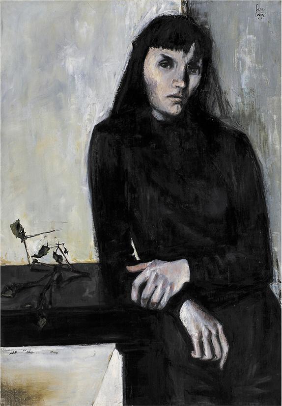 Cara-Costea, Portrait de Claude, 1951, huile sur toile, 116x81 cm. Copyright Pierre Basset