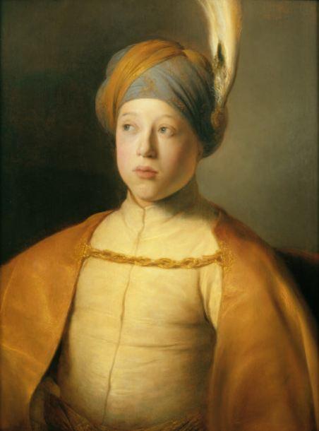 (Lievens (1606-1674), Garçon à la cape et au turban (Portrait du Prince Rupert du Palatinat) , vers 1631, Huile sur panneau, 66,7 x 51,7cm © New York, The Leiden Gallery