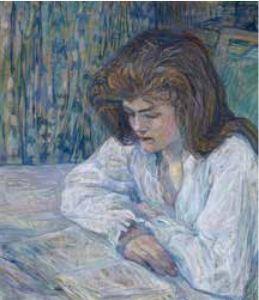 Henri de Toulouse-Lautrec (1864-1901) - La Liseuse - 1889 - Peinture à l'essence sur carton - 68 x 61 cm © Collection Alicia Koplowitz - Grupo Omega Capital