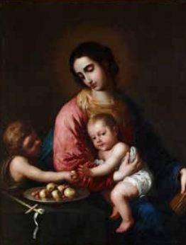 Francisco de Zurbarán (1598 – 1664) - Vierge à l'Enfant avec saint Jean-Baptiste - vers 1659 - Huile sur toile -119 x 100 cm © Collection Alicia Koplowitz - Grupo Omega Capital
