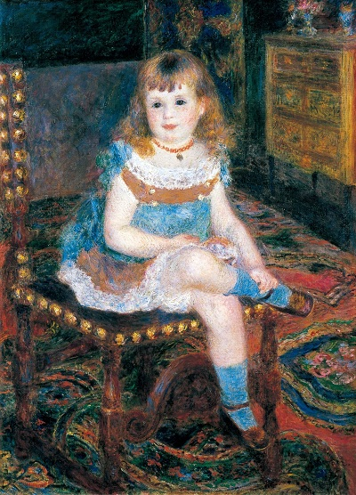 Pierre-Auguste Renoir (1841-1919)Mademoiselle Georgette Charpentier assise, 1876Tokyo, Bridgestone Museum of Art© Bridgestone Museum of Art, Ishibashi Foundation