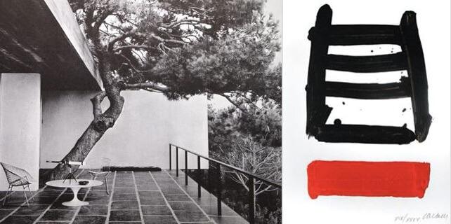 ©Maison de P Soulages à Sète (1952) et lithographie n°40 (1979)