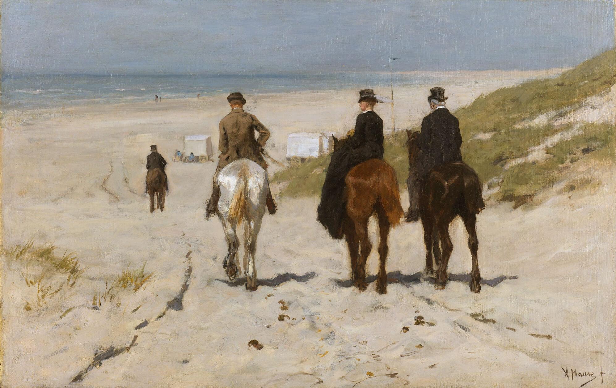 Chevauchée matinale (1876) - Anton Rudolf Mauve (1838-1888) - ©Rijksmuseum Amsterdam 45x70.