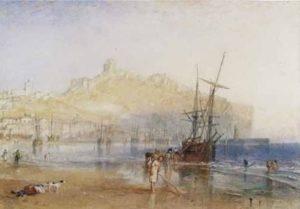 ©J. M. W. Turner (1775 – 1851), Scarborough, vers 1825, aquarelle et graphite sur papier, 15,7 x 22,5 cmTate, accepté par la nation dans le cadre du legs Turner 1856, Photo © Tate - Expo Musée Jacquemart André 2020