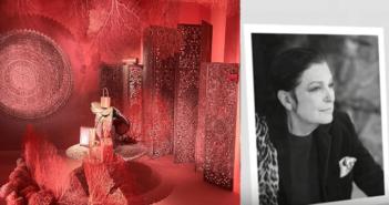 ©Leïla Menchari YouTube - Photo B.Leca-photo prise au Grand Palais Exposition Hermès à tire d'aile... Les mondes de Leila Menchari 2017