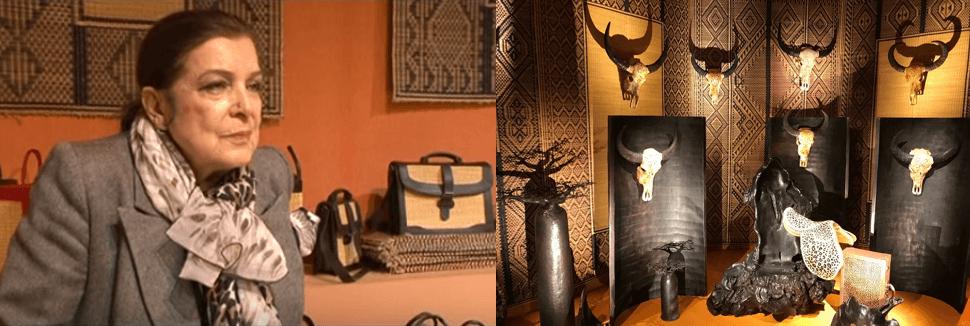 ©Leïla Menchari Orient Hermès YouTube - Photo B.Leca-photo prise au Grand Palais Exposition Hermès à tire d'aile... Les mondes de Leila Menchari 2017