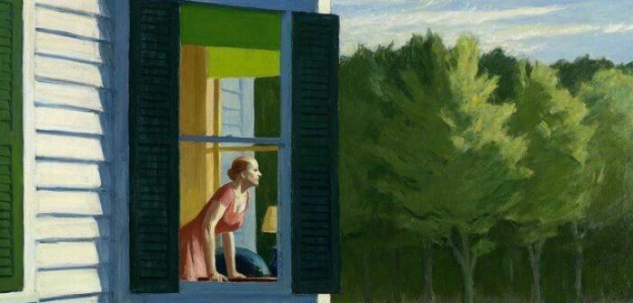 Edward Hopper, Cape Cod Morning (détail), 1950, huile sur toile, 86,7 x 102,3 cm, Smithsonian American Art Museum © Heirs of Josephine Hopper / 2019, ProLitteris, Zurich Photo ©Smithsonian American Art Museum, Gene Young / Edward Hopper