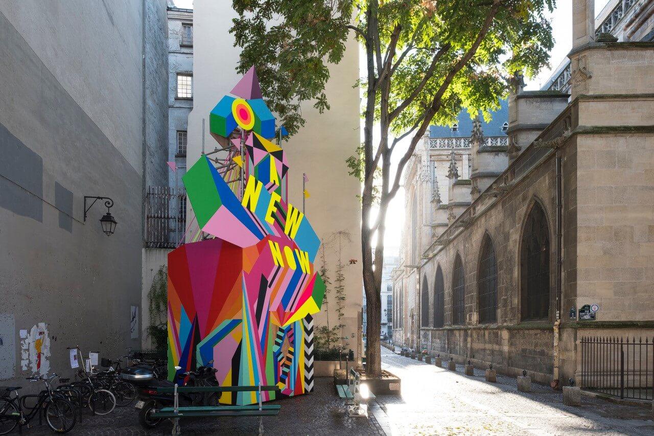 ©Art Milan Mazaud - installation Morag Myerscough à Paris