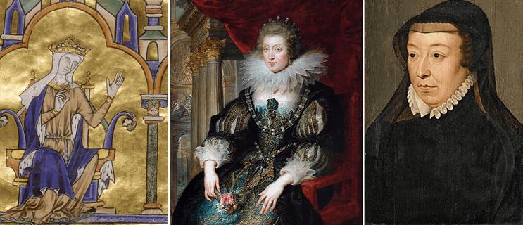 ©wikipedia - Blanche de Castille, Anne d'Autriche, Catherine de Médicis